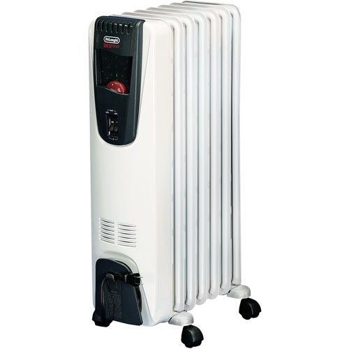 delonghi ew6507w safeheat portable oil filled radiator. Black Bedroom Furniture Sets. Home Design Ideas