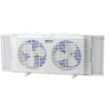 "Lasko 2137  7"" Twin window fan, 2 speed"