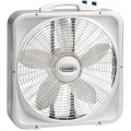 "Lasko 3755  20"" Box Fan w/Thermostat 3-Speeds"